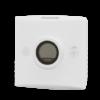 Romføler for Modbus kommunikasjon med Display. Utførelse Hvit Vifteknapp Mann i hus-knapp. Måleområde 0...50 °C