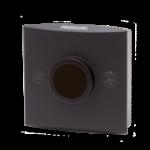 Romføler for Modbus kommunikasjon uten Display. Utførelse Sort Vifteknapp Mann i hus-knapp. Måleområde 0...50 °C