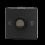 Romføler for Modbus kommunikasjon med Display. Utførelse Sort Vifteknapp Mann i hus-knapp. Måleområde 0...50 °C