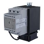 Solid state effektregulator med integrert kjøleribbe og vifte. 3-polet .  600V/3X65A. Analog inngang. Fasesnitt.