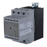 Solid state effektregulator med integrert kjøleribbe. 3-polet. 600V/3x20A. Analog inngang. Fasesnitt.