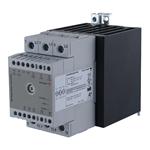 Solid state effektregulator med integrert kjøleribbe. 3-polet. 600V/3x30A. Analog inngang. Fasesnitt.