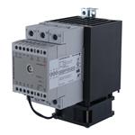 Solid state effektregulator med integrert kjøleribbe og vifte. 3-polet. 600V/3x65A. Analog inngang. Fasesnitt.