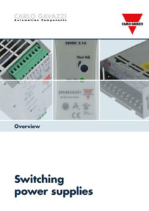 "Strømforsyninger sroduktoversikt. ""Overview Switching power supplies"""