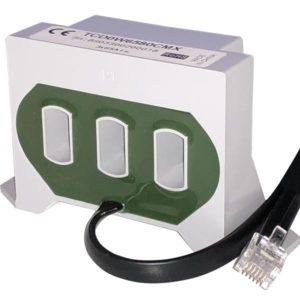 3-fase strømtransformator 65A for EM270. Med 80cm kabel og plugg.