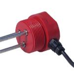 """Konduktiv nivåføler med 2 elektroder. 1 1/2"""" rørgjenger. 2m kabel. Uisolert."""