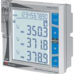Enkel nettanalysator basert på opsjonsmoduler. Bakgrunnsbelyst LCD display. Panelmontert DIN 96X96mm. Hjelpespenning 20-55VAC/DC.