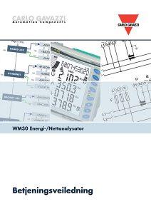 Betjeningsveiledning WM30 energimåler / nettanalysator fra Carlo Gavazzi