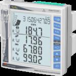 Multikanals nettanalysator avansert utførelse, basert på opsjonsmoduler. Kan håndtere inntil 96 enfase laster Bakgrunnsbelyst LCD display. Panelmontert DIN 96X96mm. Hjelpespenning 90-260VAC/DC.