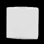 Trådløs romføler for Trådløst MESH kommunikasjon uten Display. Utførelse Hvit  . Måleområde 0...50 °C  0...100 %rH  0...2000 ppm