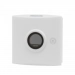 Trådløs romføler for Trådløst MESH kommunikasjon med Display. Utførelse Hvit  . Måleområde 0...50 °C  0...100 %rH  0...2000 ppm
