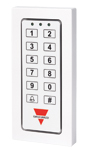 Kodetastatur for betjening av alarmfunksjoner. For veggmontering. Forsyningsspenning: 12VDC.