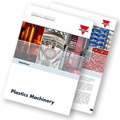 Brosjyre med produkter og løsninger til plastindustri