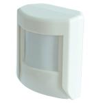 PIR-sensor med detektering 90° . 55x55 mm. Hvit. Veggmontering. For utendørs bruk (IP54). Forsyningsspenning: Bussforsynt. Integrert lux-føler