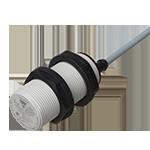 Kapasitiv giver i IO-Link utførelse. M30 i kunststoff. Uskjermet med koblingsavstand 16mm. Med 2m kabel.