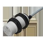 Kapasitiv giver i IO-Link utførelse. M30 i kunststoff. Skjermet med koblingsavstand 25mm. Med 2m kabel.