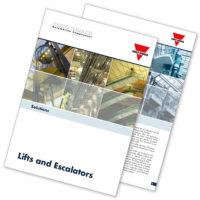 Brosjyre med løsninger for heiser og rulletrapper.