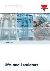 Brosjyre fra Carlo Gavazzi angående løsninger for heiser og rulletrapper