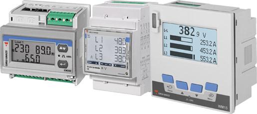 nettanalysator wm15 og energimålere EM330 og EM271
