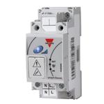 Dimmer. 1 x 500W. Byggebredde 2 moduler. Montering: DIN-skinne. Forsyningsspenning: 230VAC.