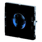 4-kanals termostat. 55x55 mm. Med 4 trykknapper og 4 LED.  Sort/hvit Eunica design. Veggmontering. Forsyningsspenning: Bussforsynt. Med display