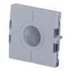 4-kanals bryter. 55x55 mm. Med 4 trykknapper og 4 LED.  Sort/hvit Eunica design. Veggmontering. Forsyningsspenning: Bussforsynt. Med 90° PIR og LUX føler