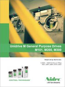 Brosjyre Unidrive frekvensomformere M101, M200, M300