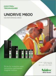 Brosjyre Unidrive M600 frekvensomformere