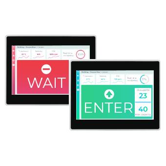 Web-server i UWP styresystem som viser om du kan gå inn eller må vente