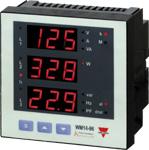 Nettanalysator med  2 releutganger og RS485 Modbus. Med LED-display. Panelmontert DIN 96X96mm. Hjelpespenning 18-60VAC/DC.