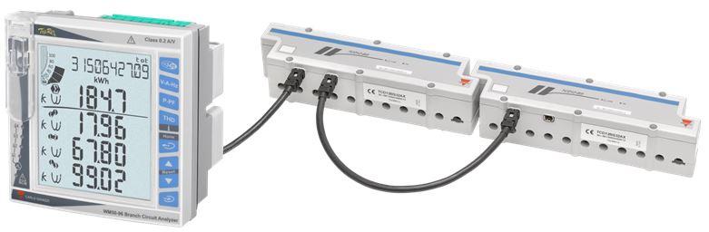WM50 nettanalysator og TCD strømtrafoer